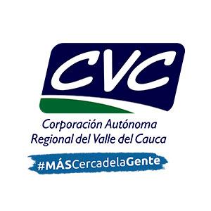 Logo CVC, corporación autónoma regional del Valle del Cauca, # más cerca de al gente
