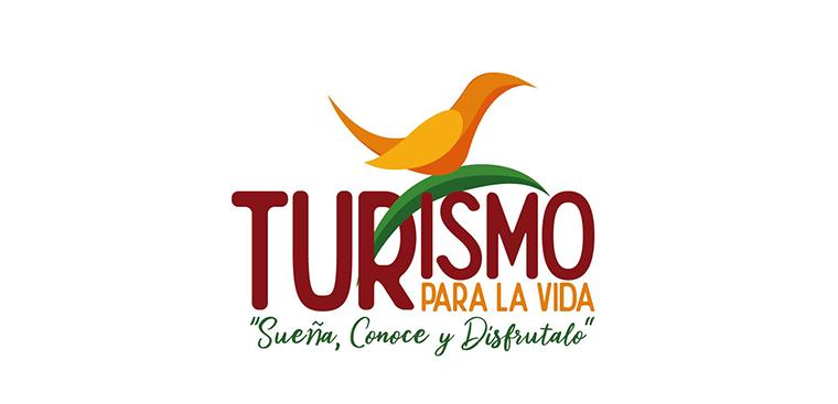 """Logo turismo para la vida, """"sueña, conoce y disfrútalo"""""""